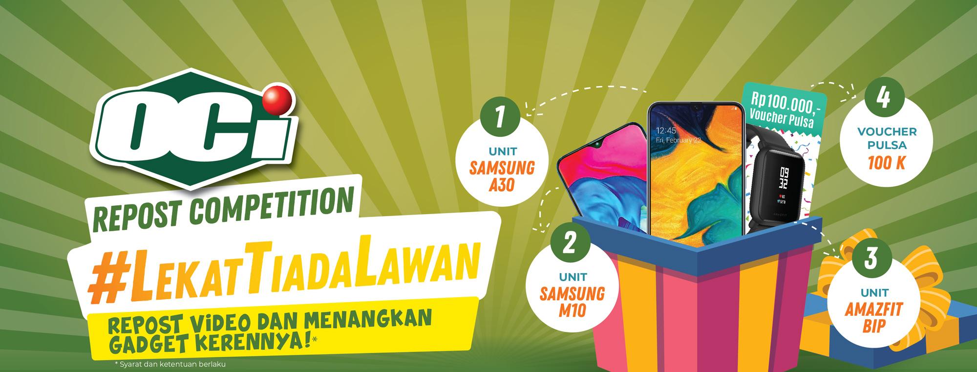 oci repost competition #lekattiadalawan - lekat tiada lawan