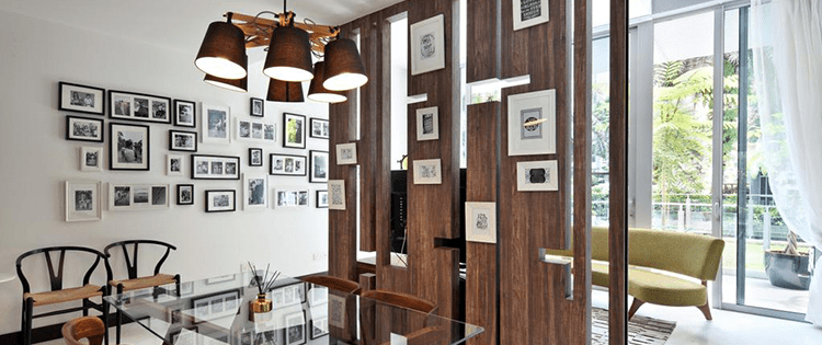 partisi kayu ruangan rumah minimalis