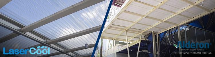 perbandingan atap pvc dan upvc lasercool vs alderon