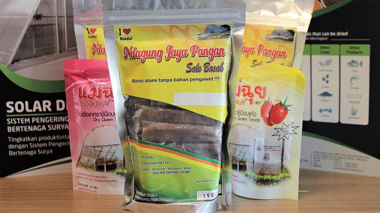 produk makanan yang dihasilkan dari pengeringan solar dryer dome