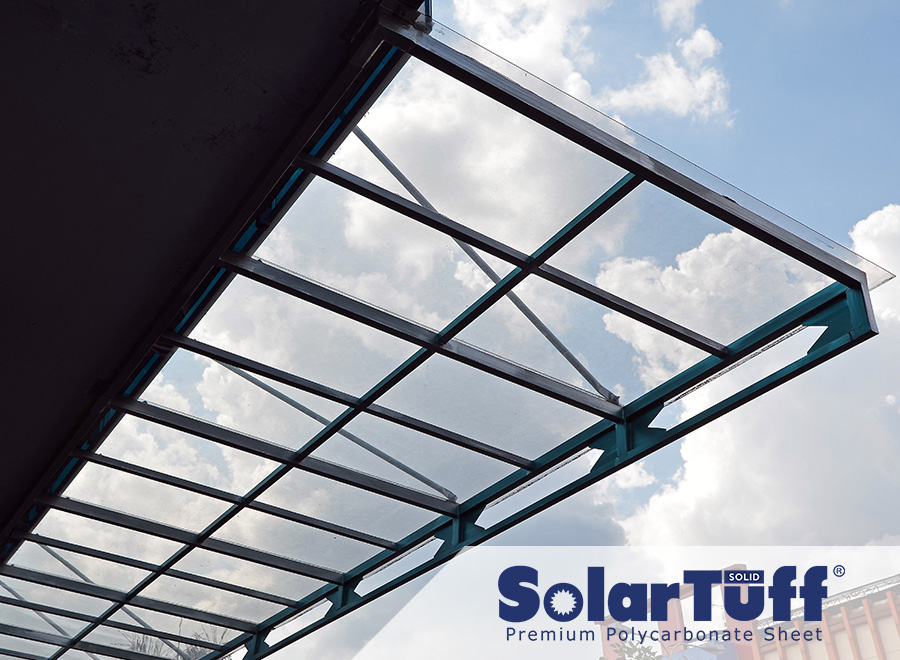 polycarbonate solarflat solartuff solid bening seperti kaca