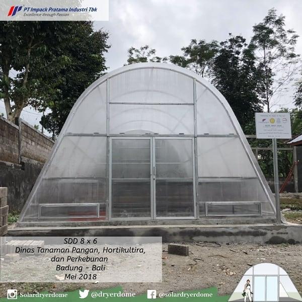 solar dryer dome pengering kopi tenaga matahari dinas perkebunan bali