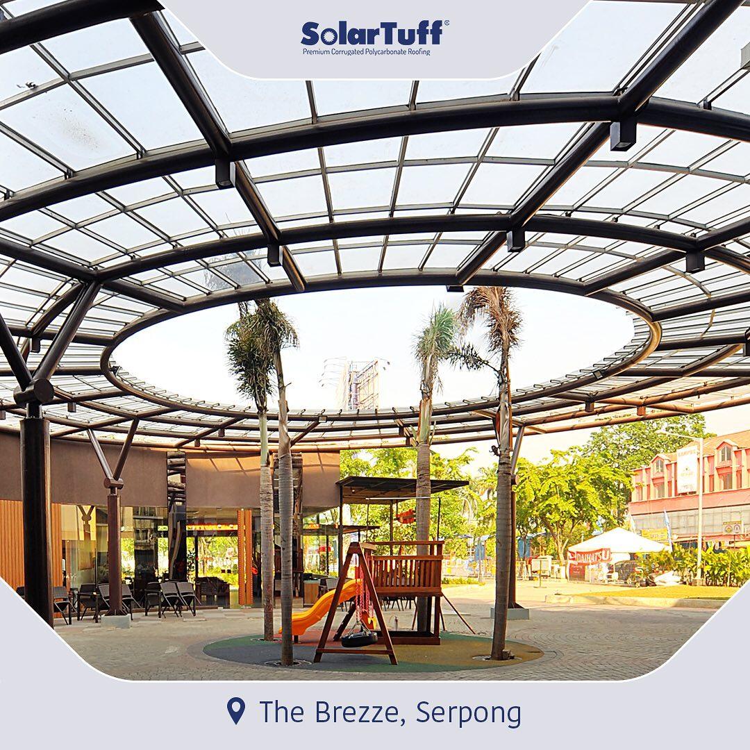 kanopi taman atap transparan solartuff