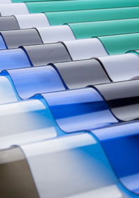solartuff gelombang polycarbonate murah atap transparan bening
