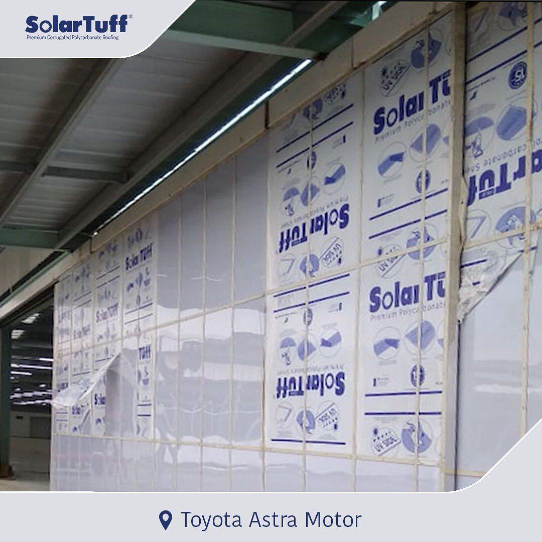 solartuff solid pelapis dinding wall cladding toyota astra motor