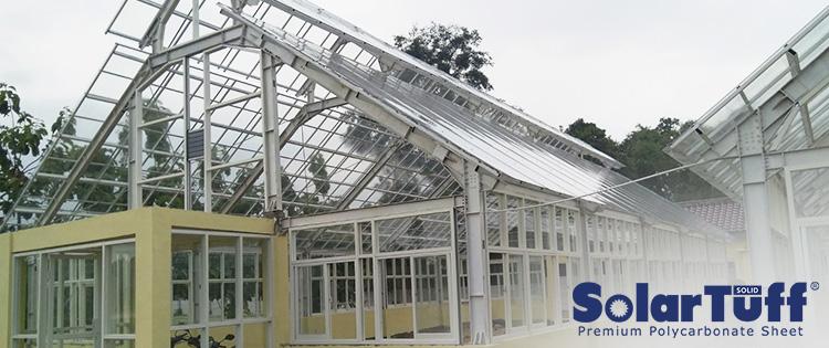 solartuff solid solarflat atap green house rumah kaca
