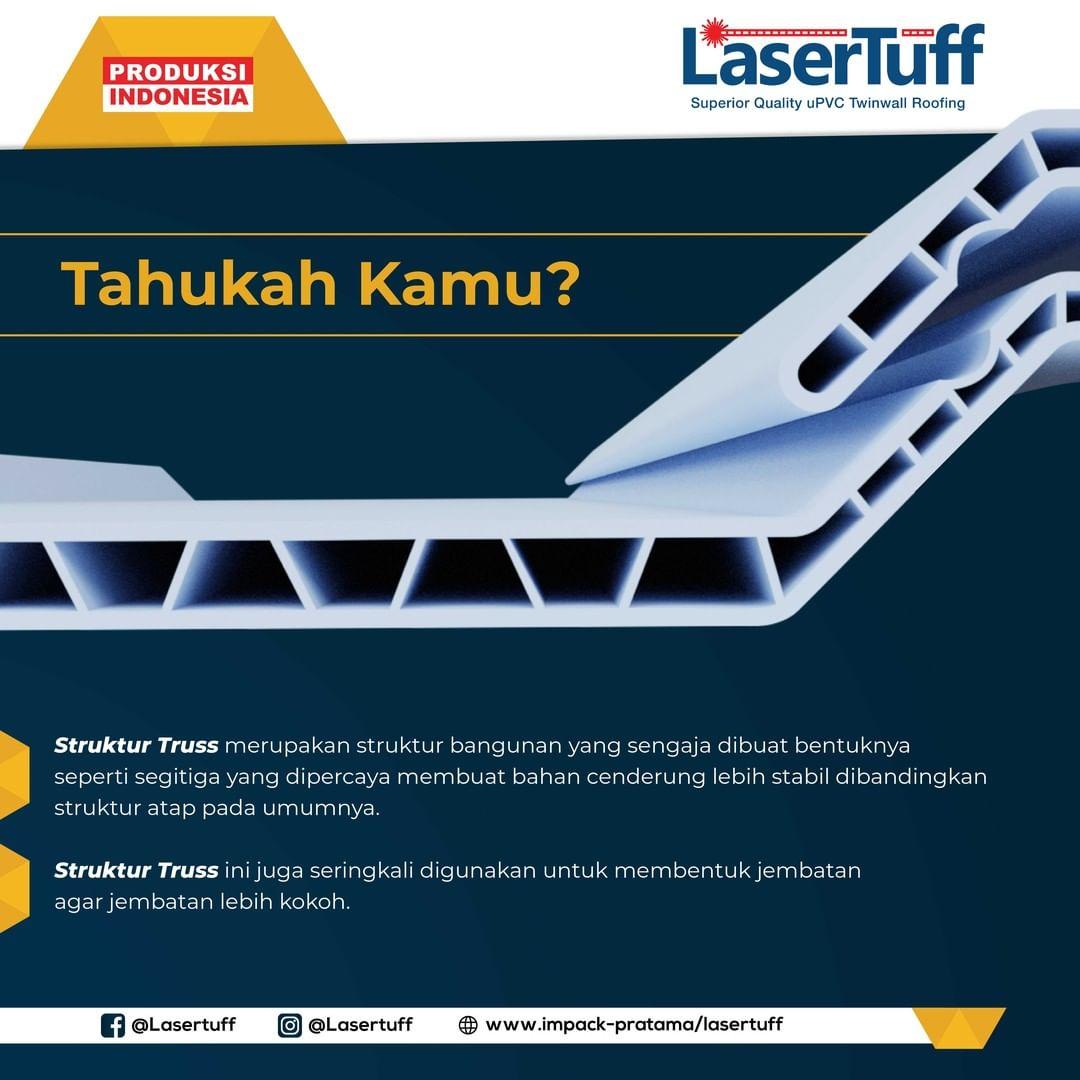 struktur truss lasertuff kanopi upvc untuk carport minimalis