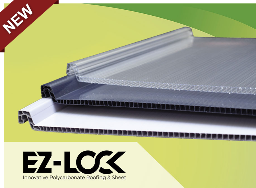 ez-lock innovative polycarbonate roofing and sheet atap kanopi transparan