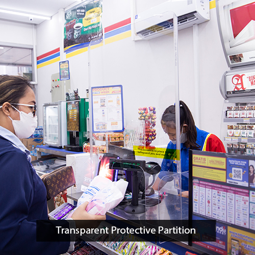 transparent protective solution indomaret retail