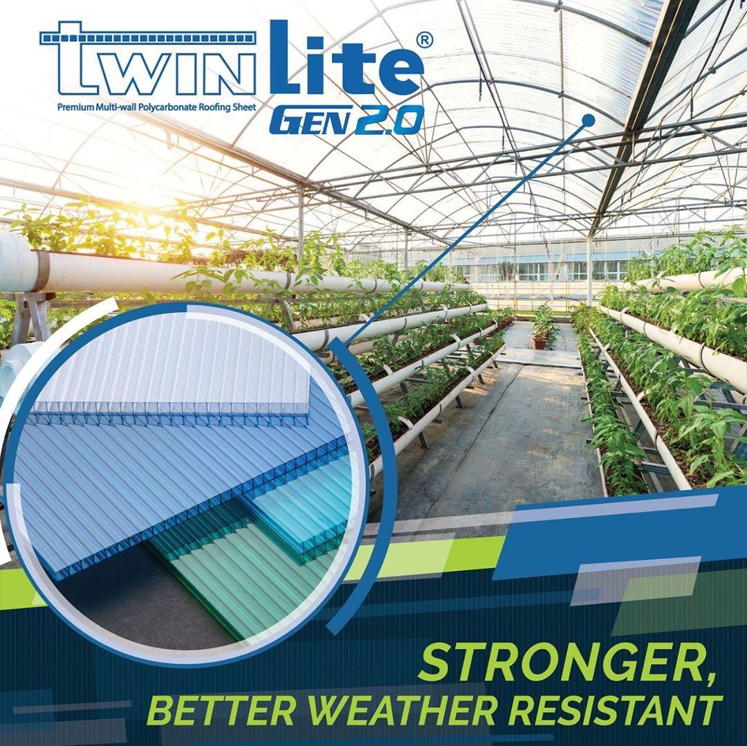 TwinLite Gen 2.0 - Sebagai Atap Greenhouse Rumah Kaca