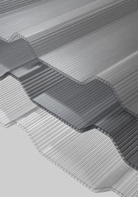 atap transparan twinlite greca polycarbonate transparan gelombang berongga
