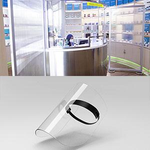 virus germ protective solution face shield partition polycarbonate