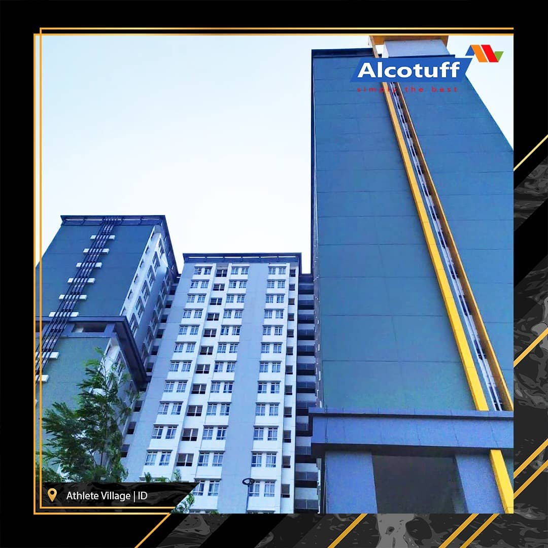 wall cladding acp aluminium composite panel wisma atlet