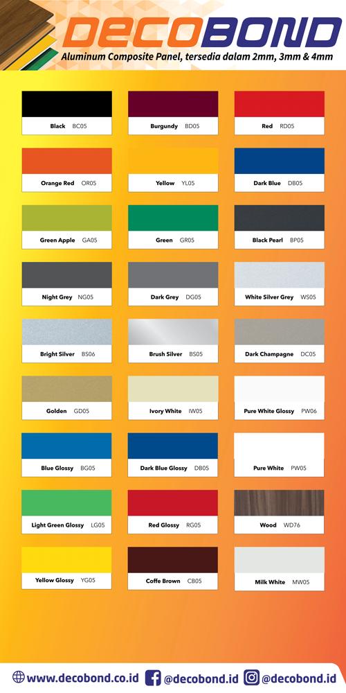 Pilihan Warna ACP Decobond