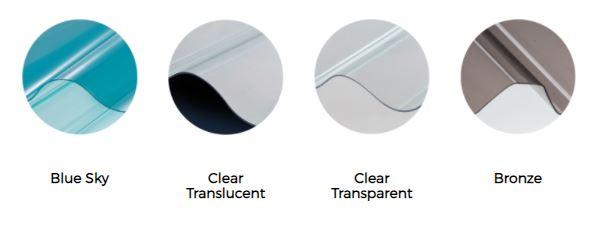 warna atap pvc lasercool atap bening transparan