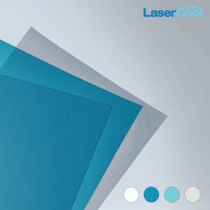 Warna LaserCool Solid Blue, Green, White, Clear