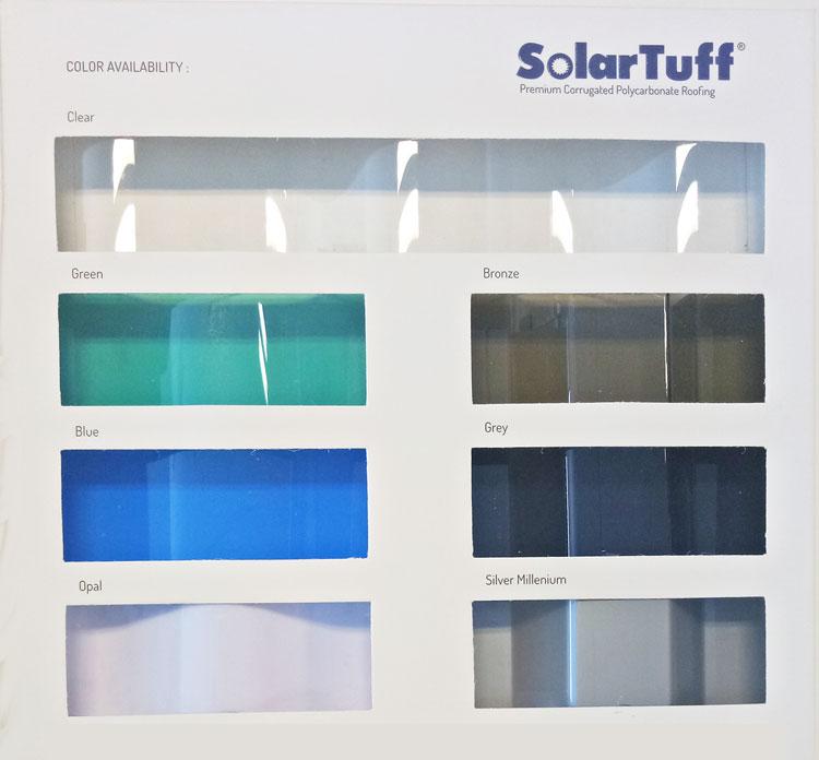 warna polycarbonate solartuff corrugated gelombang