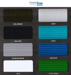 warna polycarbonate twinlite putih grey bronze abu silver bening tosca biru hijau